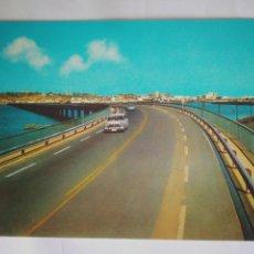 Postales: FOTO POSTAL ANTIGUA AÑOS 80 HUELVA,SIMCA PUENTE RIO ODIEL,RECUERDOS. Lote 114358100