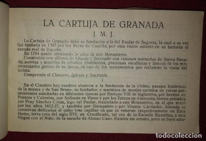 Bloc 20 postales antiguas la cartuja de granada