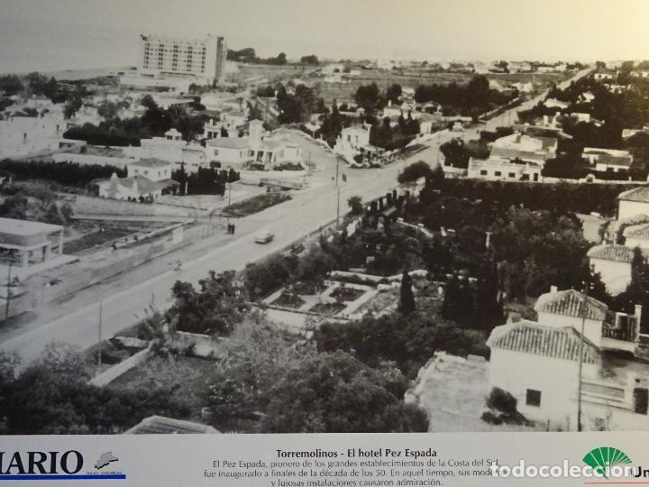 ANTIGUA LÁMINA FOTOGRAFÍA DE TORREMOLINOS, MÁLAGA. HOTEL PEZ ESPADA. 523 (Postales - España - Andalucía Antigua (hasta 1939))