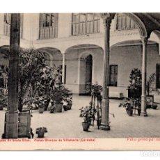 Postales: PEÑAS BLANCAS DE VILLAHARTA (CÓRDOBA).- AGUAS DE SANTA ELISA-PATIO PRINCIPAL DEL HOTEL . CASTAÑEIRA. Lote 114943859