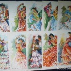 Postales: COLECCION 10 POSTALES BAILE ESPAÑOL. Lote 115013267