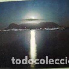 Postales: POSTAL ALGECIRAS VISTA NOCTURNA DEL PEÑON DE GIBRALTAR. Lote 115077879