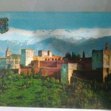 Postales: BONITA FOTO POSTAL GRANADA ALHAMBRA Y SIERRA NEVADA. Lote 115334146