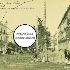 Postales: SEVILLA - CALLE DE LOS REYES CATOLICOS - HAUSER Y MENET Nº 335 - EXCELENTE ESTADO. Lote 115459675