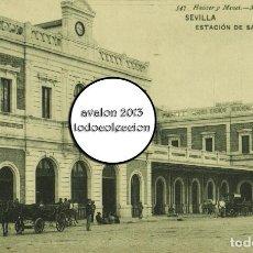 Postales: POSTAL SEVILLA - ESTACIÓN DE SAN BERNARDO - HAUSER Y MENET Nº 547 - EXCELENTE ESTADO. Lote 115473943