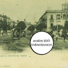 Postales: POSTAL SEVILLA - VISTA DESDE EL PUENTE DE TRIANA - HAUSER Y MENET Nº 335 - SIN DIVIDIR - EXCELENTE E. Lote 115474035