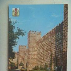 Postales: POSTAL DE SEVILLA : MURALLA REALES ALCAZARES . AÑOS 60. Lote 115625319