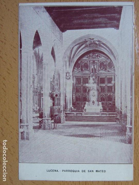 LUCENA. PARROQUIA DE SAN MATEO. (Postales - España - Andalucía Antigua (hasta 1939))