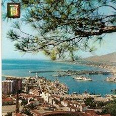 Postales: ESPAÑA & CIRCULADO, MALAGA, VISTA GENERAL DEL PUERTO, JÂLONS FRANCIA (108). Lote 116266235