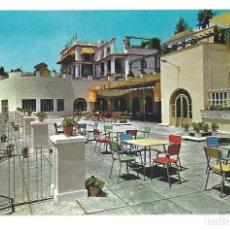 Postales: POSTAL- HOTEL LOS ANGELES.- Nº 1152, TERRAZA Y COMEDOR DE VERANO, FOT. RIVAS. GRANADA- SIN CIRCULAR. Lote 116537115