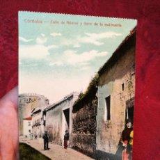 Postales: CÓRDOBA.CALLE DE ADARVE Y TORRE DE LA MAL MUERTA. (ED. A. FRAGERO.).CIRCA 1900 COLOREADA. Lote 116591951