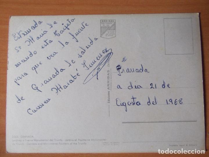 Postales: GRANADA-D10-FUENTE MONUMENTAL DEL TRIUNFO-ESC-68 - Foto 2 - 29618733