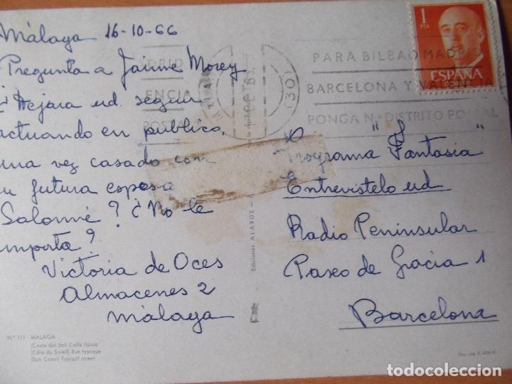 Postales: MALAGA-D21-ESC-CIRC-SELLADA-CALLE TIPICA - Foto 2 - 29819596