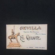 Postales: SEVILLA. EXPOSICIÓN IBERO-AMERICANA. EL QUIJOTE. PLAZA DE AMÉRICA. 20 POSTALES. JUEGO COMPLETO.. Lote 118283791