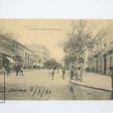 Postales: ANTIGUA POSTAL ANIMADA - ALMERIA, PASEO DEL PRINCIPE - EDIT. HAUSER Y MENET - AÑO 1921. Lote 118887644