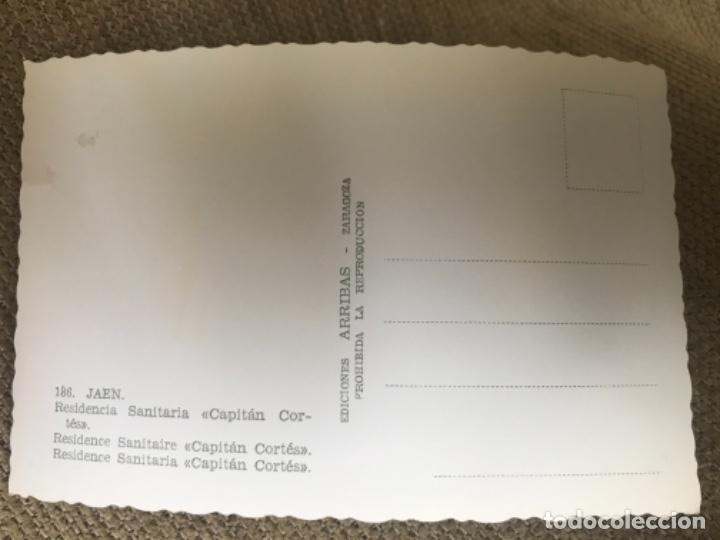 Postales: ANTIGUA POSTAL JAÉN RESIDENCIA SANITARIA CAPITAN CORTES 186 ED ARRIBA - Foto 2 - 119096067