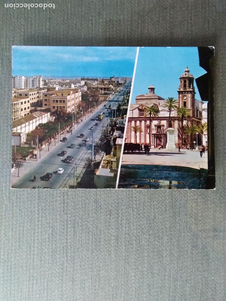 POSTAL CADIZ AVDA LOPEZ PINTO E IGLESIA DE SANTIAGO (Postales - España - Andalucia Moderna (desde 1.940))