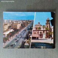 Postales: POSTAL CADIZ AVDA LOPEZ PINTO E IGLESIA DE SANTIAGO. Lote 119315603