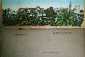Sevilla Postal doble Panorama de los jardines del alcázar 27,5cm x 9,5cm Postales de Andalucía 7511