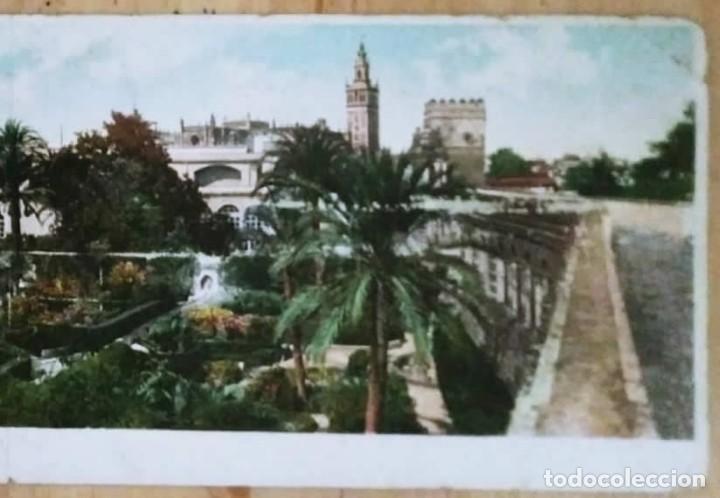 Sevilla Postal doble Panorama Jardines del Alcázar 27,5cm x 9cm Postales de Andalucía - 119394727