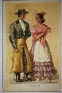 CÓRDOBA Tuser - Postal Trajes tipicos españoles - Laietana - serie 5507 - 14 córdoba 13,7cm x 8,9cm