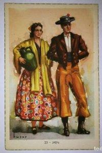 JAÉN - Tuser - Postal Trajes tipicos españoles - Laietana - serie 5507 - 23 jaén 13,7cm x 8,9cm
