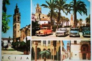 Postal ÉCIJA coches años 80