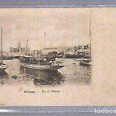 Postales: TARJETA POSTAL DE MALAGA - EN EL PUERTO. FOTO DE MUCHART. Lote 120907667