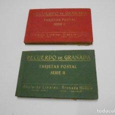 Postales: RECUERDO DE GRANADA SERIES 1 Y 2 COMPLETAS. Lote 121841639