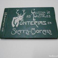 Postales: MONTERIA EN SIERRA MORENA - SERIE COMPLETA. Lote 121841743