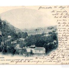 Postales: GRANADA.- ( ALHAMBRA ).- VISTA DESDE LA FUENTE DEL AVELLANO. HAUSER Y MENET. Lote 122168851