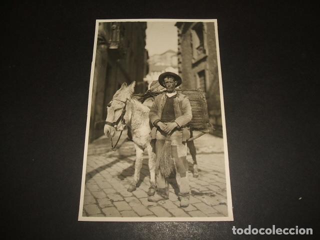 GRANADA BARRENDERO CON BURRO POSTAL FOTOGRAFICA HACIA 1920 (Postales - España - Andalucía Antigua (hasta 1939))