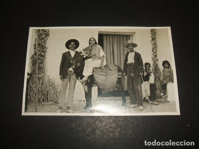 GRANADA GITANOS CON BURRO POSTAL FOTOGRAFICA HACIA 1920 (Postales - España - Andalucía Antigua (hasta 1939))