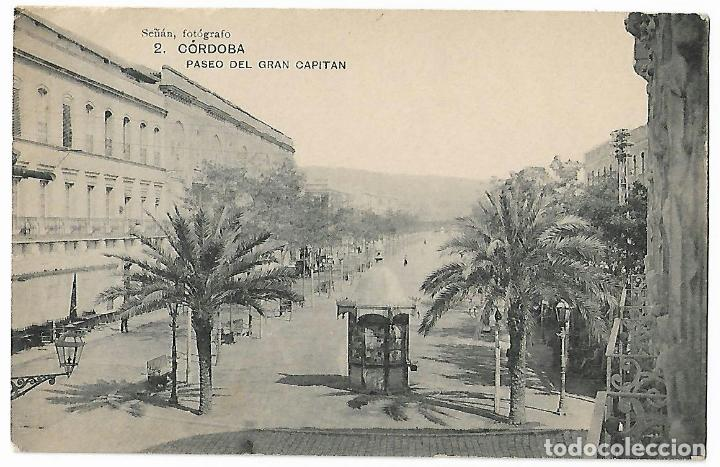 CÓRDOBA. PASEO DEL GRAN CAPITÁN. SEÑÁN. FOTOGRAFO. Nº 2. (Postales - España - Andalucía Antigua (hasta 1939))