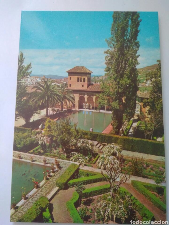 ANTIGUA FOTO POSTAL GRANADA ALHAMBRA JARDINES DEL PARTAL .FRANCISCO GALLEGO 1081 (Postales - España - Andalucia Moderna (desde 1.940))