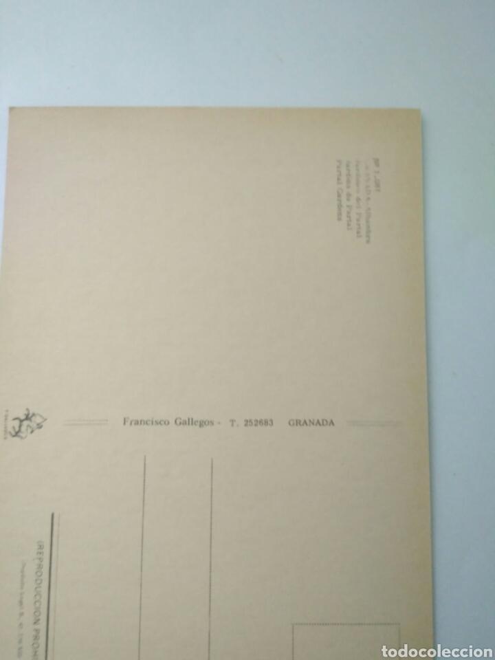 Postales: ANTIGUA FOTO POSTAL GRANADA ALHAMBRA JARDINES DEL PARTAL .FRANCISCO GALLEGO 1081 - Foto 2 - 123343072