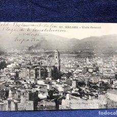 Postales: MALAGA VISTA GENERAL ESCRITA FRANCES ED DE LA LLAVE MONJA NOVICIA CONVENTO VIAJE POBRES LIMOSNA. Lote 178916776