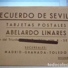 Postales: RECUERDO DE SEVILLA TARJETAS POSTALES ABELARDO LINARES - SEGUNDA SERIE - PORTAL COL·LECCIONISTA ****. Lote 123718647
