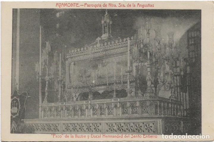 AYAMONTE .- PARROQUIA DE NTRA. SRA. DE LAS ANGUSTIAS .- EDICION FOTO-LUZ .- PUBLI. SALUD Y BESOY (Postales - España - Andalucía Antigua (hasta 1939))