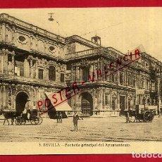 Postales: POSTAL SEVILLA, FACHADA PRINCIPAL DEL AYUNTAMIENTO, P88908. Lote 125595471