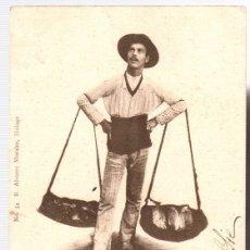 Postcards - TARJETA POSTAL MALAGA. VENDEDOR DE PESCADO. Nº 54. R. ALVAREZ MORALES, FOT. DE MUCHART. AÑO 1903 - 125718871