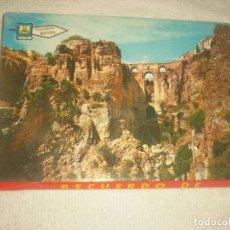 Postales: RECUERDO DE RONDA , LIBRITO ACORDEON DE 12 POSTALES .. Lote 126365951