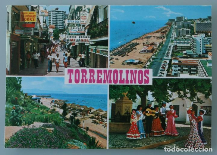 ANTIGUA POSTAL VISTAS TIPICAS DIVERSAS TORREMOLINOS COSTA DEL SOL MALAGA - SIN CIRCULAR (Postales - España - Andalucia Moderna (desde 1.940))