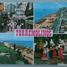 Postales: ANTIGUA POSTAL VISTAS TIPICAS DIVERSAS TORREMOLINOS COSTA DEL SOL MALAGA - SIN CIRCULAR. Lote 126481883
