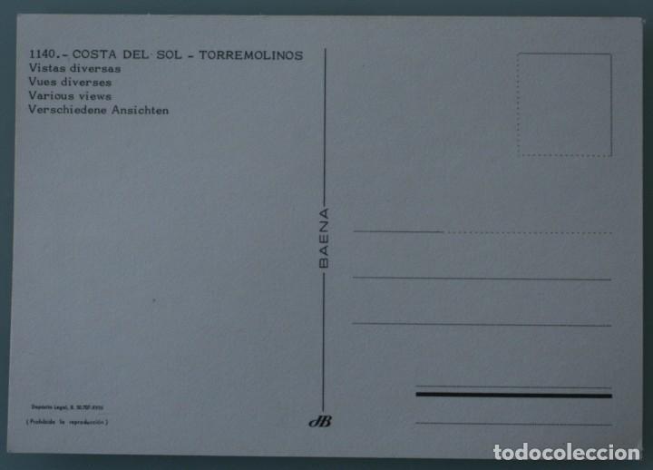 Postales: ANTIGUA POSTAL VISTAS TIPICAS DIVERSAS TORREMOLINOS COSTA DEL SOL MALAGA - SIN CIRCULAR - Foto 2 - 126481883