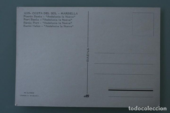 Postales: ANTIGUA POSTAL PUERTO BANUS ANDALUCIA LA NUEVA COSTA DEL SOL MARBELLA MALAGA SIN CIRCULAR - Foto 2 - 126482211