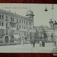 Postales: POSTAL DE HUELVA, PLAZA DE LAS MONJAS, N. 8, ED. PAPELERIA M. MORA Y COMP., NO CIRCULADA, ESCRITA.. Lote 126615567