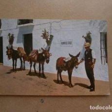 Postales: POSTAL COSTA DEL SOL, MIJAS, PARADA DE BURROS TAXI. Lote 126650055