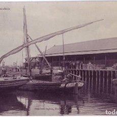 Postales: HUELVA: PESCADERÍA. PAPELERÍA INGLESA. CIRCULADA (1910). Lote 127493007