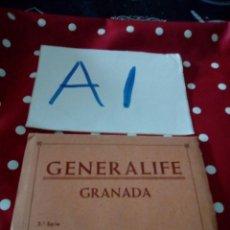 Postales: ANTIGUO BLOCK POSTALES GENERALIFE GRANADA 3 SERIE. Lote 127508540